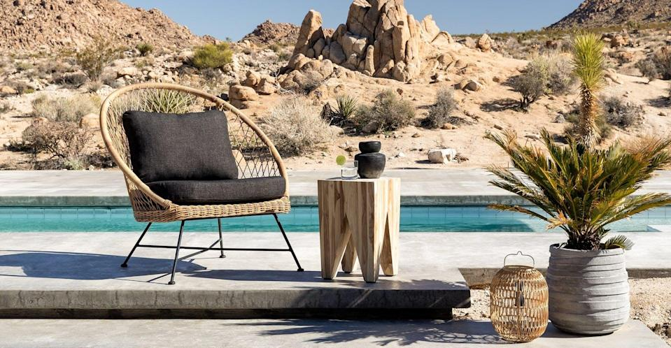<p>We're so into this chic <span>Article Aeri Slate Gray Lounge Chair</span> ($399).</p>