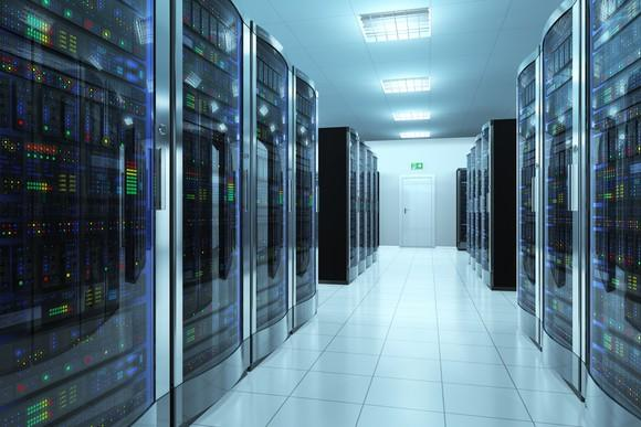A room of servers.