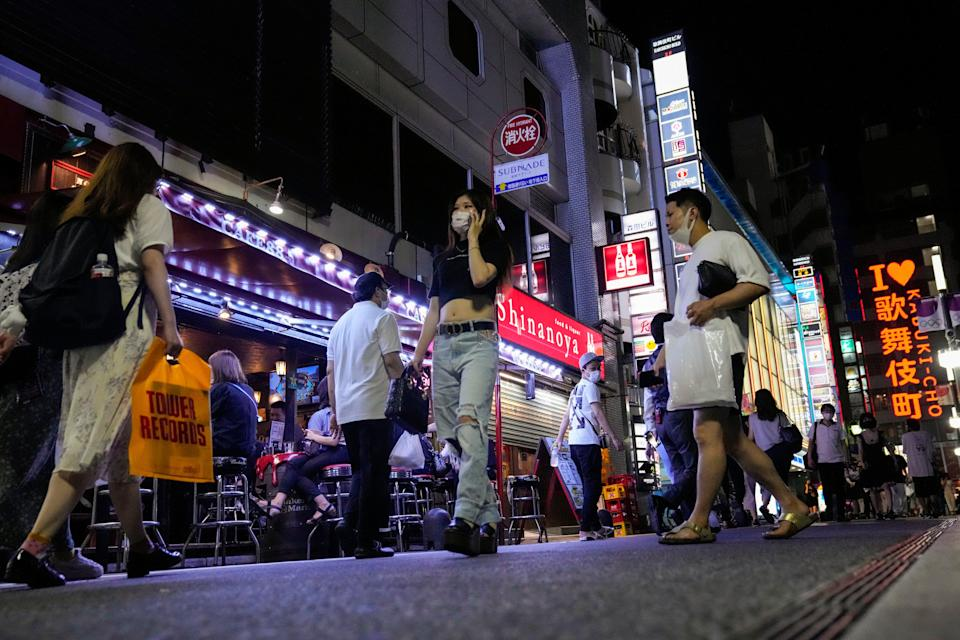 The government has imposed an 8pm closing time for restaurants and bars under Tokyo's fourth state of emergency (AP)