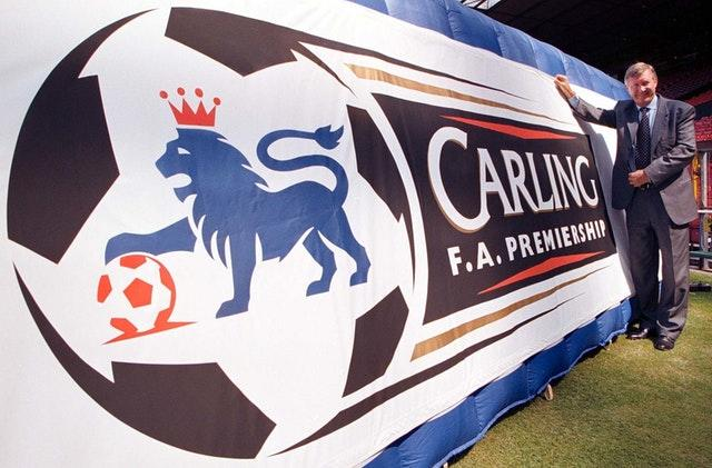 The competition was known as the Carling Premiership from 1993 until 2001. Former Manchester United manager Sir Alex Ferguson helped launch the logo ahead of the 1997-98 season