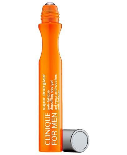 <p>The <span>Clinique For Men Super Energizer Anti-Fatigue Depuffing Eye Gel</span> ($34) is a roll-on gel to instantly re-energize tired-looking eyes. The quick-absorbing, de-puffing formula easy to apply to brighten any face, and day - starting with Christmas morning in a stocking. Let's just say it's perfect for anytime last night's plans are still written all over someone's face on Zoom the next day.</p>