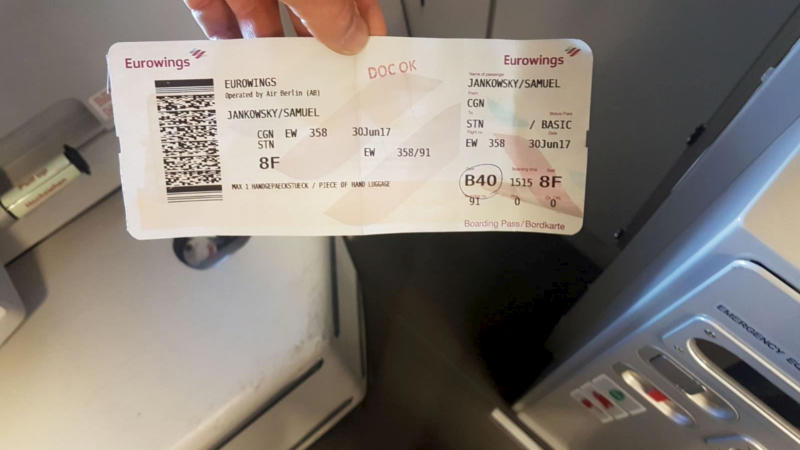 Mr Jankowsky said his boarding pass was checked three times (Picture: SWNS)