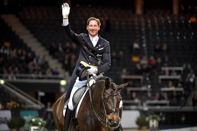Equestrian - Sweden International Horse Show - Fei Grand Prix Dressage Qualification Event - Friends Arena, Stockholm, Sweden - December 2, 2017. Patrik Kittel of Sweden rides his horse Deja. TT News Agency/Jessica Gow via REUTERS ATTENTION EDITORS - THIS IMAGE WAS PROVIDED BY A THIRD PARTY. SWEDEN OUT. NO COMMERCIAL OR EDITORIAL SALES IN SWEDEN