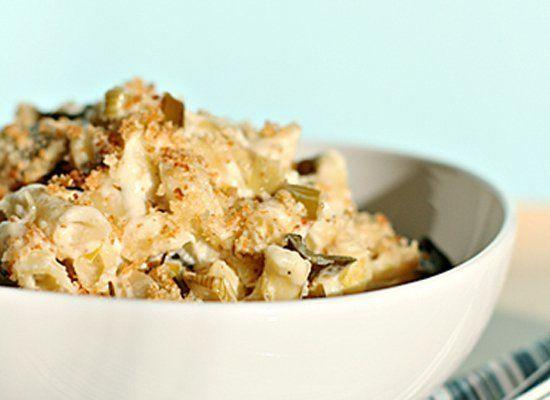 """<strong>Get the <a href=""""http://foodandstyle.com/2010/01/23/mac-and-cheese-with-braised-leeks-asiago-and-parmesan-breadcrumbs/"""" target=""""_hplink"""">Mac and Cheese with Braised Leeks, Asiago and Parmesan Breadcrumbs recipe </a>from Food Style</strong>"""