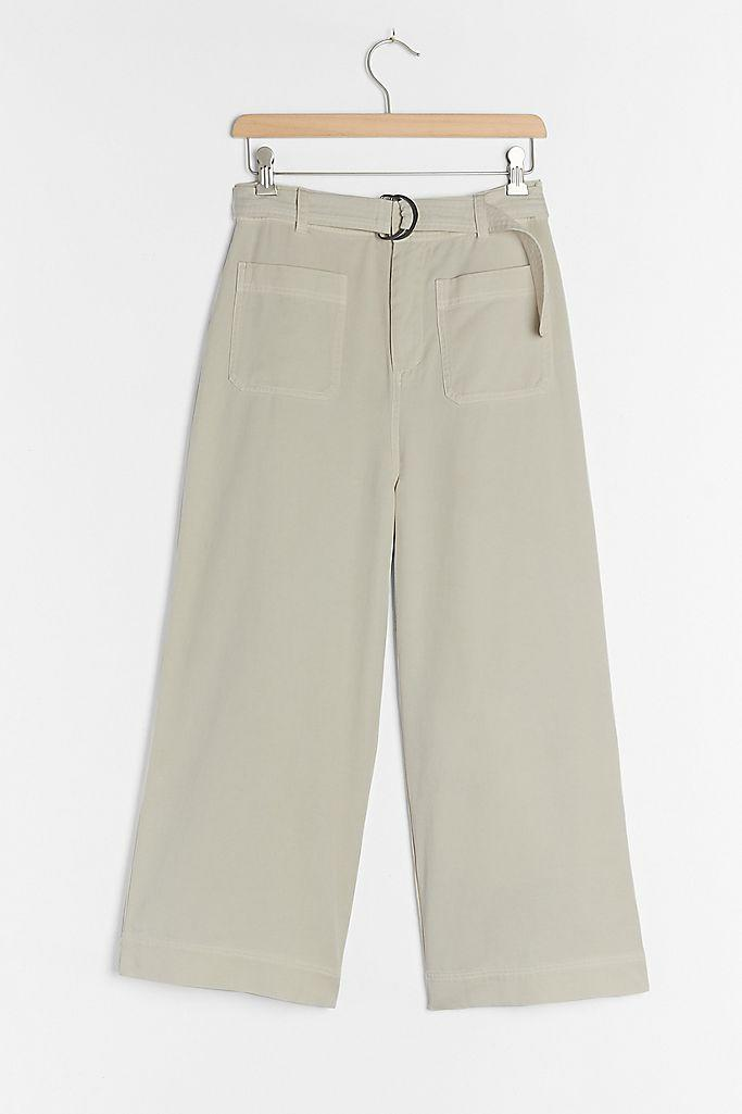 Cloth & Stone Belted Wide-Leg Pants