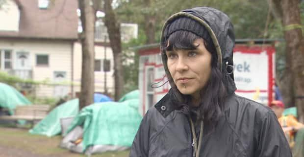 Rachelle Sauvé is the Meagher Park site co-ordinator and member of P.A.D.S (Permanent, Accessible, Dignified, and Safer) Community Network. (CBC - image credit)