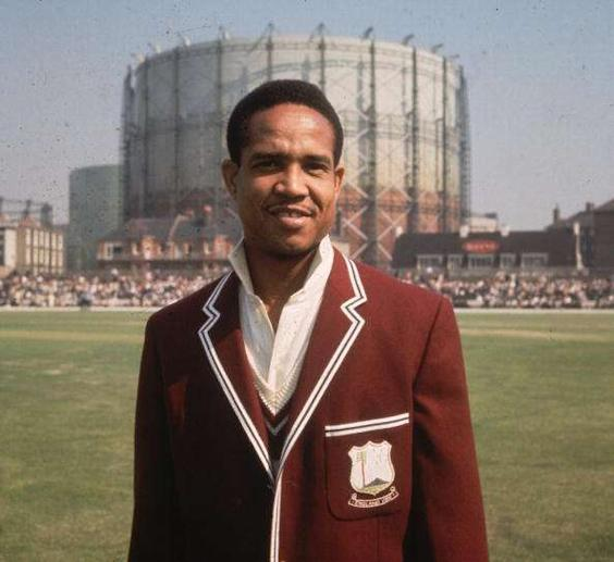 Gary Sobers before the start of the 5th Test between the West Indies and England at the Oval. (Photo by Titmuss/Getty Images)