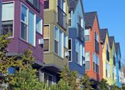 <p>Every house favors bold, decadent hues on this colorful Seattle street.</p>