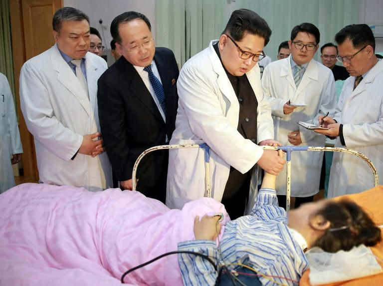 "North Korean leader Kim Jong Un visited survivors in hospital, calling the bus crash his people's ""own misfortune"""