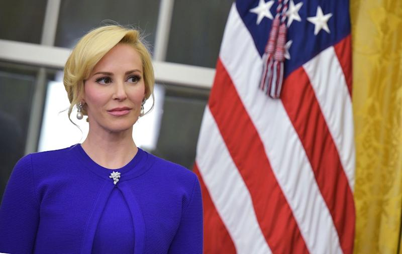 Louise Linton attends the swearing in ceremony of Treasury Secretary Steven Mnuchin on Feb. 13, 2017, at the White House in Washington, D.C. (Photo: MANDEL NGAN/AFP/Getty Images)