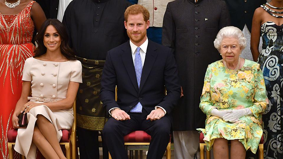 Meghan Markle, Prince Harry and Queen Elizabeth