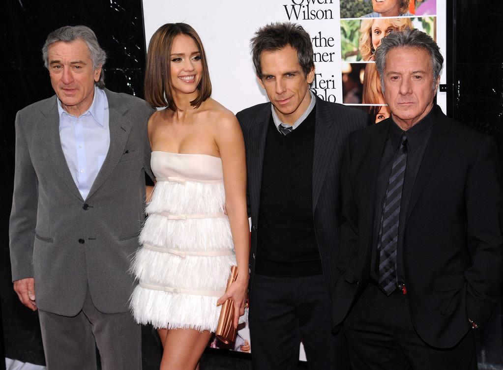 "<a href=""http://movies.yahoo.com/movie/contributor/1800010759"">Robert De Niro</a>, <a href=""http://movies.yahoo.com/movie/contributor/1800019057"">Jessica Alba</a>, <a href=""http://movies.yahoo.com/movie/contributor/1800019193"">Ben Stiller</a> and <a href=""http://movies.yahoo.com/movie/contributor/1800014129"">Dustin Hoffman</a> at the New York City premiere of <a href=""http://movies.yahoo.com/movie/1810110296/info"">Little Fockers</a> on December 15, 2010."
