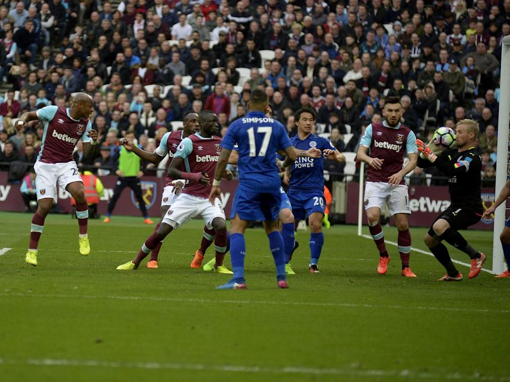 Ayew gave West Ham hope late on (Getty)