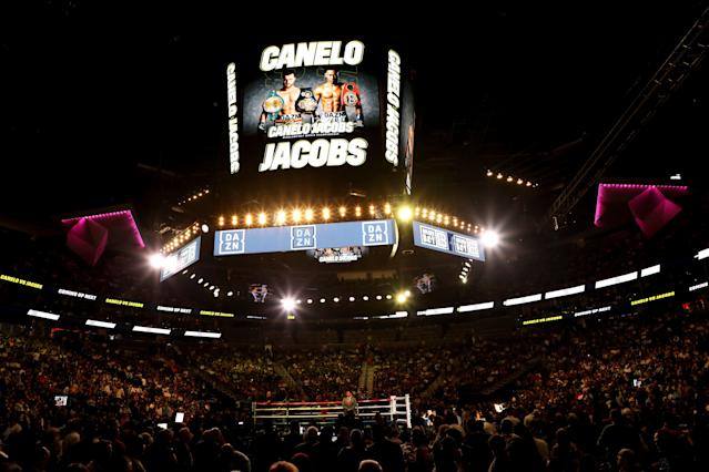 The Canelo Alvarez vs. Daniel Jacobs middleweight title unification fight had more than 1.2 million views worldwide, DAZN announced Wednesday. (Yahoo Sports)