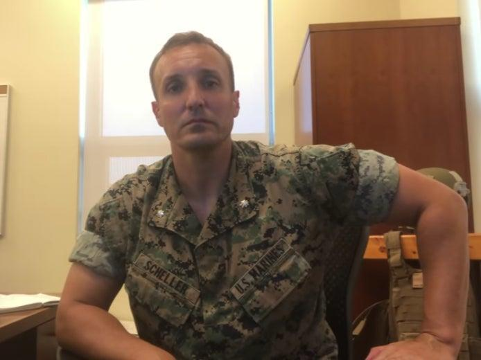 The marine posted a video in August lambasting US military leadership for chaotic Afghanistan withdrawal  (Screengrab/Video/Stuart Scheller)