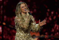 Carly Pearce performs at the 56th annual Academy of Country Music Awards on Sunday, April 18, 2021, at the Grand Ole Opry in Nashville, Tenn. (AP Photo/Mark Humphrey)