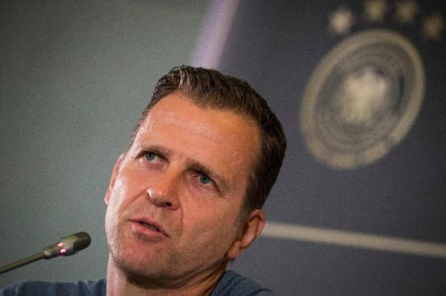 Germany team director Oliver Bierhoff is angry at criticism of Mesut Ozil (AFP Photo/Odd ANDERSEN)