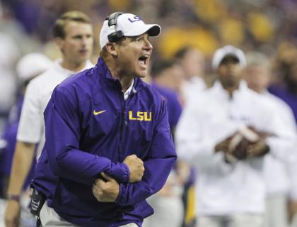 Les Miles, LSU. (Credit: USA Today)
