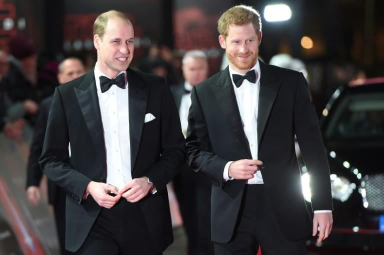 "Britain's Prince William, left, and Prince Harry are rumoured to have cameo roles in ""The Last Jedi"""