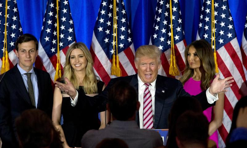Donald Trump, Melania Trump, Ivanka Trump and Jared Kushner