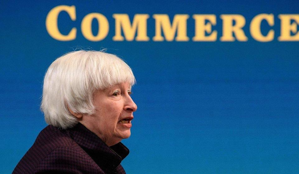 """US Treasury Secretary Janet Yellen said that the Securities and Exchange Commission would investigate whether concerted retail trading practices """"are consistent with investor protection and fair and efficient markets"""". Photo: AFP"""