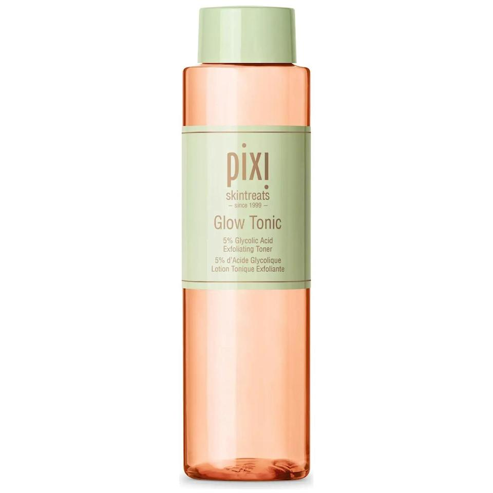 """<p><strong>Pixi</strong></p><p>ulta.com</p><p><strong>$18.00</strong></p><p><a href=""""https://go.redirectingat.com?id=74968X1596630&url=https%3A%2F%2Fwww.ulta.com%2Fp%2Fglow-tonic-pimprod2013446%3Fsku%3D2562261%26cmpid%3DPS_Non%2521google%2521Product_Listing_Ads%26cagpspn%3Dpla%26CATCI%3Daud-843600520763%253Apla-1216079088361%26CAAGID%3D111011517259%26CAWELAID%3D330000200001995630%26CATARGETID%3D330000200002750986%26CADevice%3Dc%26gclid%3DCjwKCAjwqvyFBhB7EiwAER786TZHMAYY3HWDD9u6GcWbXMt3jBNiKrBYyUQXG3IIfRtHXPWevjQjiBoCC80QAvD_BwE&sref=https%3A%2F%2Fwww.goodhousekeeping.com%2Fbeauty-products%2Fg36618407%2Fbest-toner-combination-skin%2F"""" rel=""""nofollow noopener"""" target=""""_blank"""" data-ylk=""""slk:Shop Now"""" class=""""link rapid-noclick-resp"""">Shop Now</a></p><p>This Pixi exfoliating toner gets the GH Beauty Lab scientist thumbs up for all the skin-loving ingredients inside. """"<strong>It contains astringents, aloe, glycolic acid, and humectants </strong>— all effective ingredients in a toner,"""" Wnek says. It also has ginseng to improve circulation for an instant <a href=""""https://www.goodhousekeeping.com/beauty/anti-aging/a28541767/how-to-get-glowing-skin-tips/"""" rel=""""nofollow noopener"""" target=""""_blank"""" data-ylk=""""slk:glow boost"""" class=""""link rapid-noclick-resp"""">glow boost</a>.</p>"""