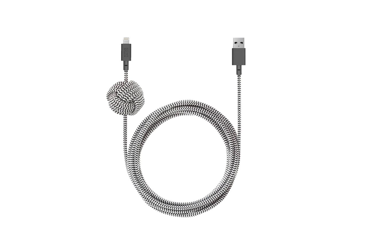 """$40, Native Union. <a href=""""https://www.nativeunion.com/collections/charging-cables/products/night-cable"""">Get it now!</a>"""