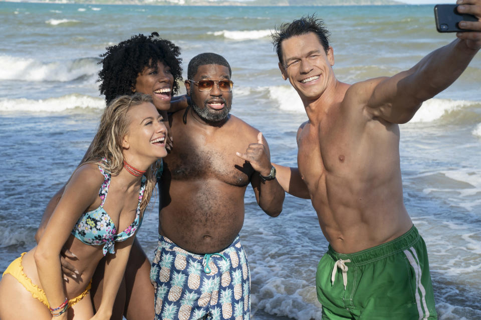 Meredith Hagner as Kyla, Yvonne Orji as Emily, Lil Rel Howery as Marcus and John Cena as Ron