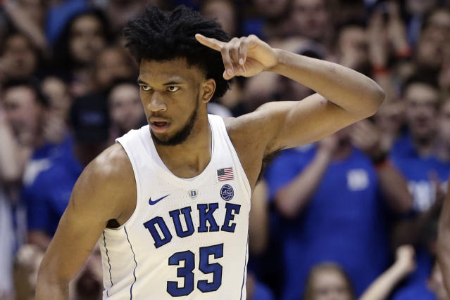 Marvin Bagley will hope to lead Duke to an ACC tournament title in Brooklyn. (AP Photo/Gerry Broome)