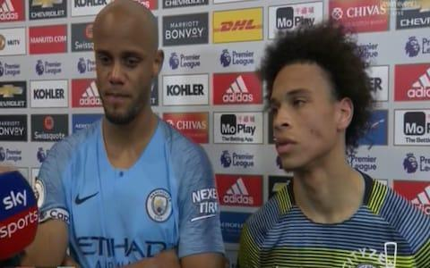 Kompany and Sane - Credit: Sky