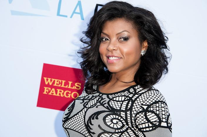 Taraji P. Henson arrives at the Kristin Chenoweth, The Go-Go's and Pink Martini Inductions Into The Hollywood Bowl Hall of Fame on Saturday, June 21, 2014, in Los Angeles. (Photo by Richard Shotwell/Invision/AP)