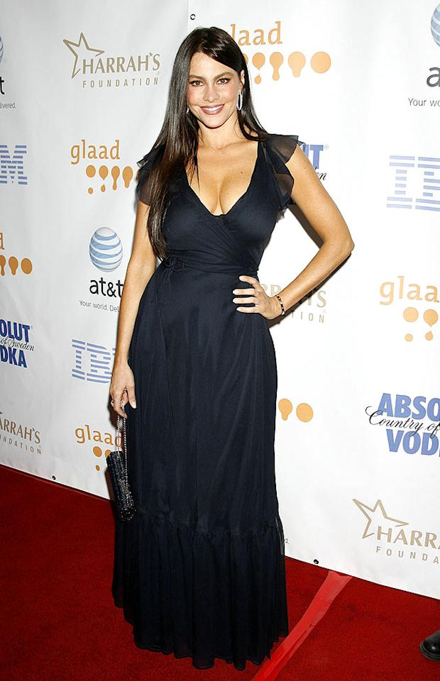 """Dirty Sexy Money"" star Sofia Vergara is beautiful in black. Jeffrey Mayer/<a href=""http://www.wireimage.com"" target=""new"">WireImage.com</a> - April 26, 2008"