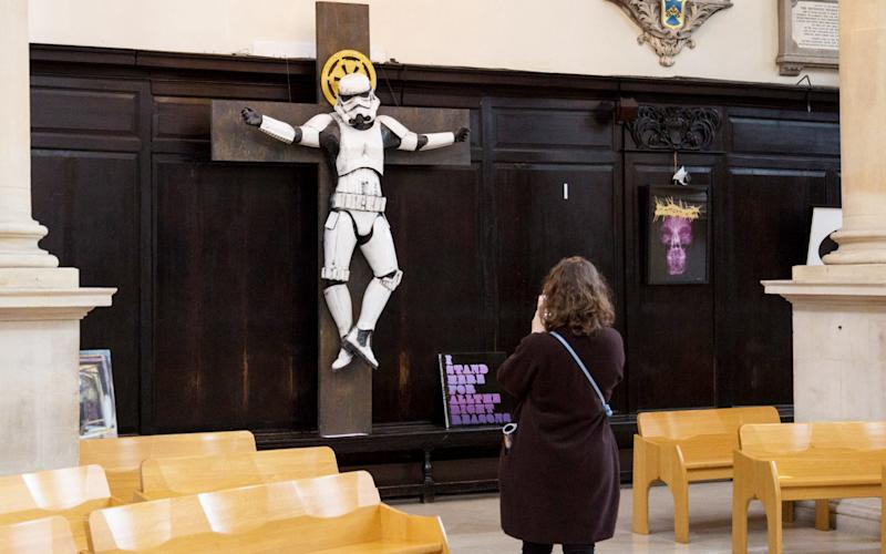 Some parishioners found the statue offensive - SWNS.com