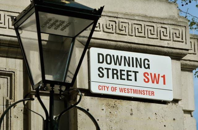 A Downing Street sign