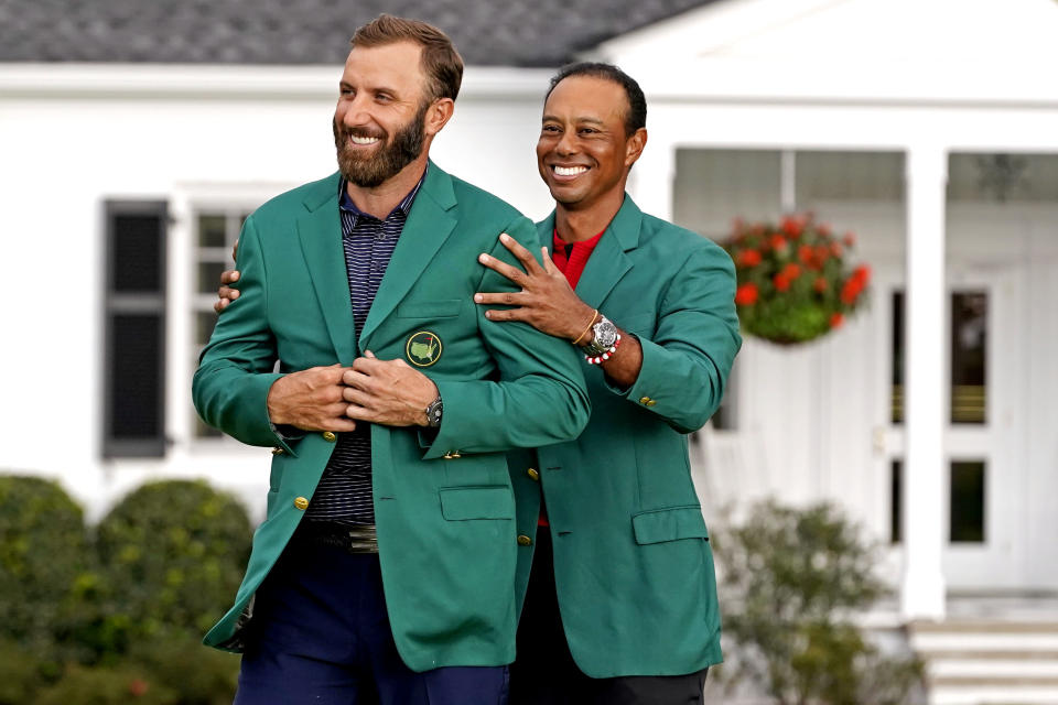 Dustin Johnson Tiger Woods Masters Jackets 2020