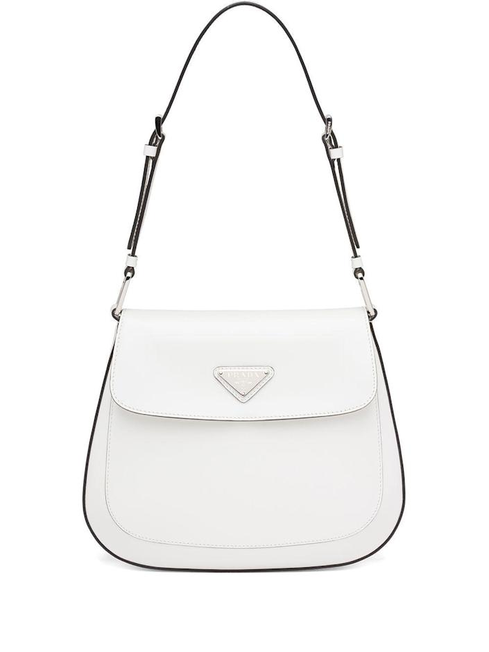"""<p><strong>Prada</strong></p><p>farfetch.com</p><p><strong>$2500.00</strong></p><p><a href=""""https://go.redirectingat.com?id=74968X1596630&url=https%3A%2F%2Fwww.farfetch.com%2Fshopping%2Fwomen%2Fprada-cleo-shoulder-bag-item-16437330.aspx&sref=https%3A%2F%2Fwww.cosmopolitan.com%2Fstyle-beauty%2Ffashion%2Fg35681726%2Fexpensive-items-on-sale-hauliday%2F"""" rel=""""nofollow noopener"""" target=""""_blank"""" data-ylk=""""slk:Shop Now"""" class=""""link rapid-noclick-resp"""">Shop Now</a></p><p>No doubt, this bag is everywhere on Instagram, and for good reason: It's super chic!<strong><br></strong></p><p><strong>How to score the deal: </strong>Take 10% off full-price items (some exclusions apply) on orders of $300 or more with the code HAULIDAY for Klarna users.</p>"""