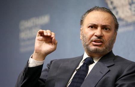 Minister of State for Foreign Affairs for the United Arab Emirates, Anwar Gargash, speaks at an event at Chatham House in London