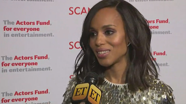Washington spoke with ET's Leanne Aguilera at the red carpet for the series finale of 'Scandal.'
