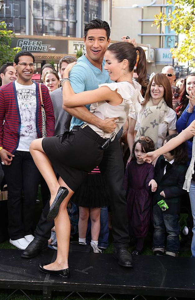 "Camilla Belle showed off her dancing skills while promoting her new film, ""From Prada to Nada,"" on ""Extra"" with host Mario Lopez at The Grove in L.A. Wednesday. The comedy is a modern spin on Jane Austen's <i>Sense and Sensibility</i>, where two sisters find out they're broke after their dad dies and have to move in with their aunt in East L.A. Noel Vasquez/<a href=""http://www.gettyimages.com/"" target=""new"">GettyImages.com</a> - January 19, 2011"