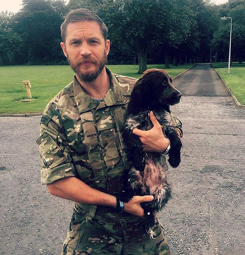 """<p>""""I love dogs, and <a rel=""""nofollow noopener"""" href=""""http://www.vulture.com/2014/09/tom-hardy-drop-dog-michael-roskam-tiff.html"""" target=""""_blank"""" data-ylk=""""slk:I see myself as a dog"""" class=""""link rapid-noclick-resp"""">I see myself as a dog</a> inside in many ways — that's the way I am,"""" Hardy explained to Vulture in September 2014. """"It's like, I bark a lot, and I can bite, but I don't really. You know, they've got an energy. I just have an affinity with a dog. I'm very, very loyal, but, you know, I will piss on the carpet. [<em>Laughs</em>.] I will chew your sneakers! And sometimes I look like I'm going to bite, but actually, if you know me, I'm not like that."""" (Photo: <a rel=""""nofollow noopener"""" href=""""https://www.facebook.com/TomHardyUK/photos/a.556208251056875.135105.555896884421345/1039229212754774/?type=3&theater"""" target=""""_blank"""" data-ylk=""""slk:Tom Hardy via Facebook"""" class=""""link rapid-noclick-resp"""">Tom Hardy via Facebook</a>)<br><br></p>"""