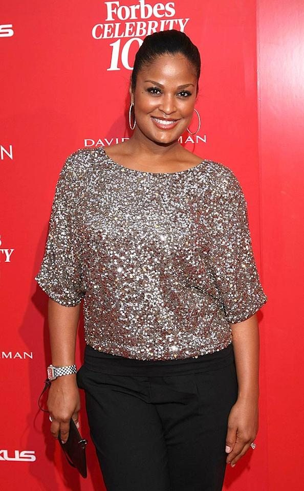 """Laila Ali was all sparkles at the event. The 33-year-old former pro boxer and """"American Gladiators"""" host has a line of beauty products for the ethnic market. Arnold Turner/<a href=""""http://www.wireimage.com"""" target=""""new"""">WireImage.com</a> - June 8, 2011"""