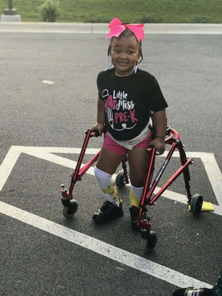 PHOTO: Kinley, 4, daughter of Shanell Jones of Fayetteville, North Carolina, was diagnosed with cerebral palsy at the age of 2. (Shanell Jones)