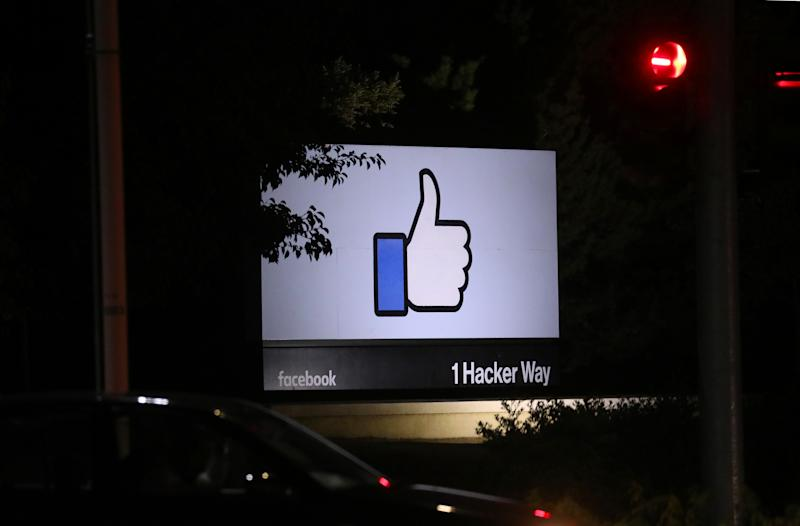 The Facebook campus in Menlo Park, Calif., on Wednesday, Sept. 18, 2019. (Jim Wilson/The New York Times)