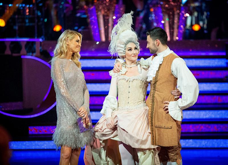 Michelle and Giovanni speak to Tess Daly (Photo: BBC/Guy Levy)