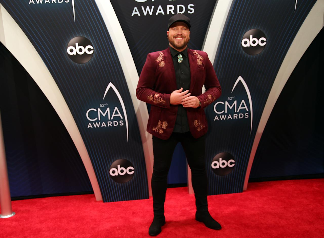 Country Music Association Awards - Arrivals - Nashville, Tennessee, U.S., 14/11/2018 - Mitchell Tenpenny. REUTERS/Jamie Gilliam