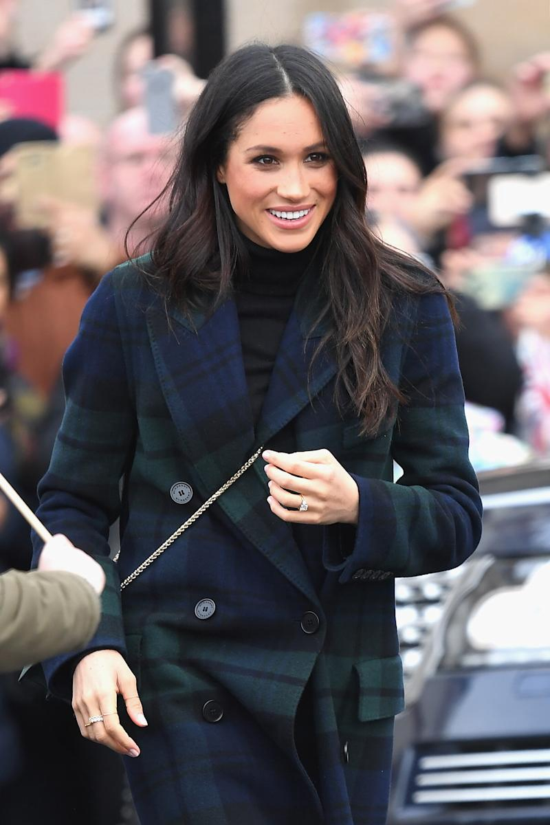 Markle, who is an American but will become a British citizen before her wedding, is wearing more and more British labels.  (Karwai Tang via Getty Images)