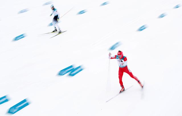 Biathlon - Pyeongchang 2018 Winter Paralympics - Men's 15km - Standing - Alpensia Biathlon Centre - Pyeongchang, South Korea - March 16, 2018 - Keiichi Sato of Japan competes. REUTERS/Carl Recine