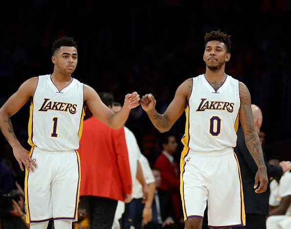 D'Angelo Russell (1) and Nick Young (0) always added up to one. (Getty Images)