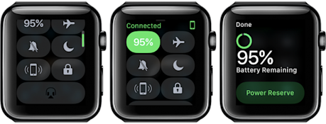 Just as on the iPhone, there's now a Dock and a Control Center on your watch.