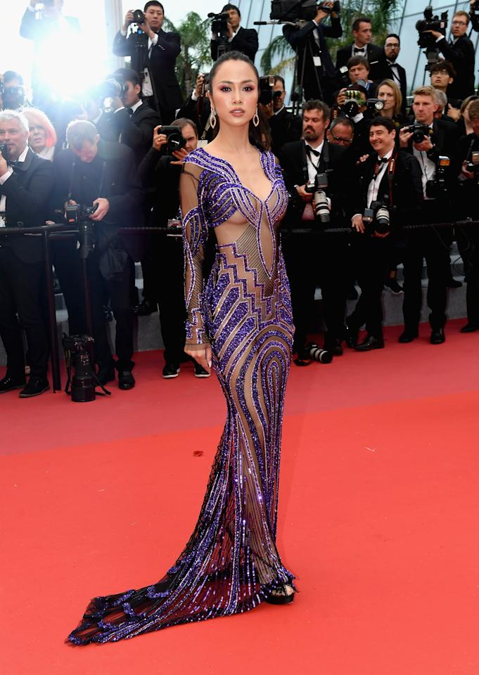"<p>Model Vu Ngoc Anh wears naked dress during the screening of ""Burning""at the 71st annual Cannes Film Festival on May 16, 2018 in Cannes, France. Source: Getty </p>"